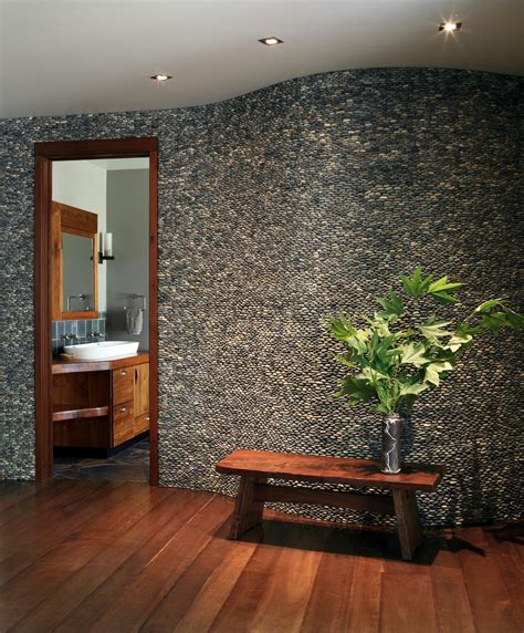 rock wall design 31 great ideas and pictures of river rock tiles for the bathroom