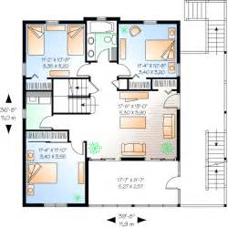 5 bedroom 2 story house plans coastal style house plans 2392 square foot home 2