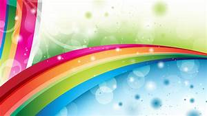 Abstract Rainbow Wave Vector Wallpapers