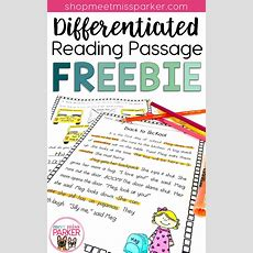 Differentiated Reading Passage And Questions Freebie  Super Second Grade  2nd Grade Reading