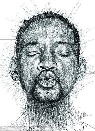 dyslexia artist vince  scribbles portraits  famous
