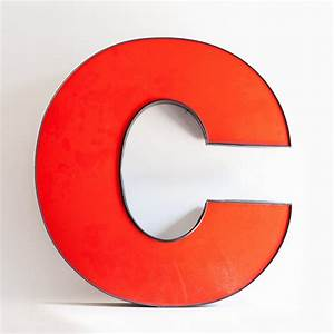 large metal letter c With giant letter c