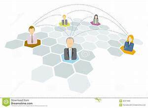 Business People Connecting    Networking Icons Stock Vector
