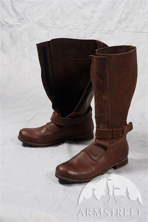 renaissance high leather boots  sca  reenacment