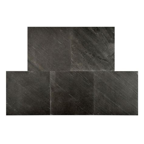 faststone black line 12 in x 12 in slate peel and stick