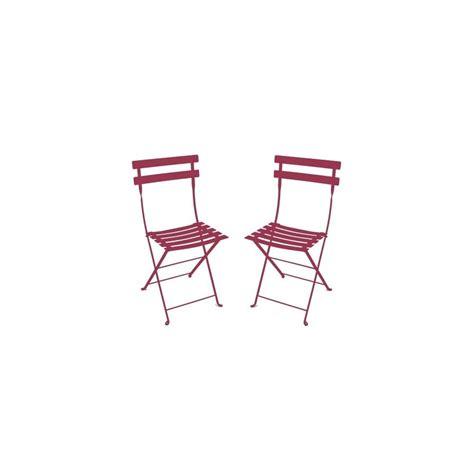 chaise pliante métal lot de 2 contemporain chaise de chaise pliante bistro en métal grenat fermob lot de