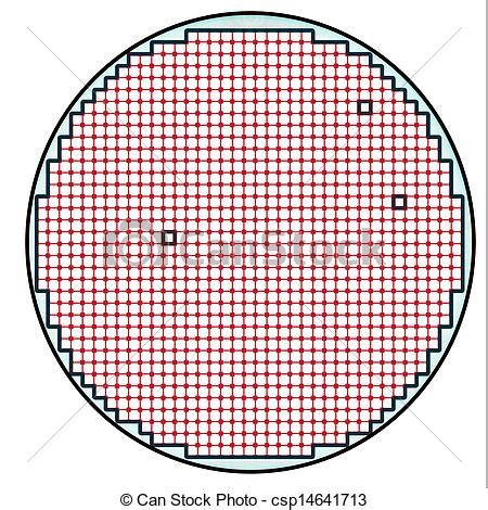 Semiconductor wafer map test result illustration with few ...