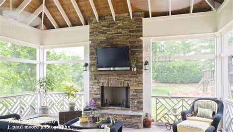 screened porch with fireplace inspiring screen porches pictures