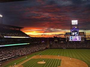 Sunset at Coors Field - Picture of Coors Field, Denver ...
