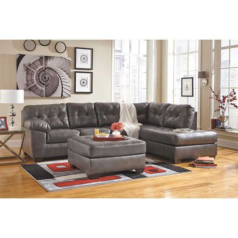 grey chaise sectional alliston gray 2pc sectional w raf chaise 0n2 201rc 2pc
