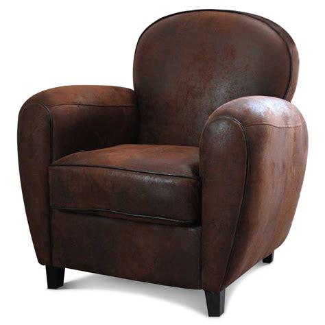siege de salon fauteuil en microfibre effet croûte de cuir demeure