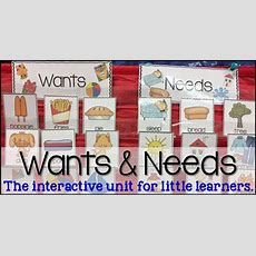 Wants And Needs {with A Freebie}  Sharing Kindergarten