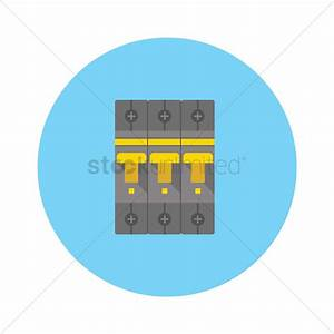 Circuit Breaker And Fuse Box Vector Image
