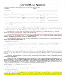 Printable Apartment Lease Agreement