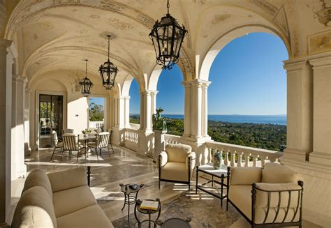 exquisite palladian villa  montecito ca homes   rich