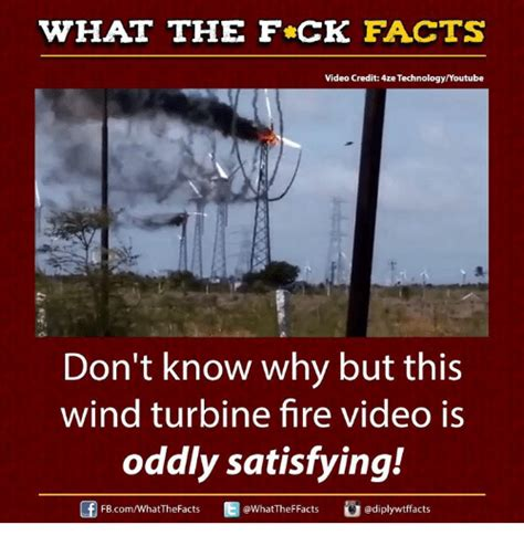 Wind Meme - what the fck facts video credit e technologyyoutube don t know why but this wind turbine fire