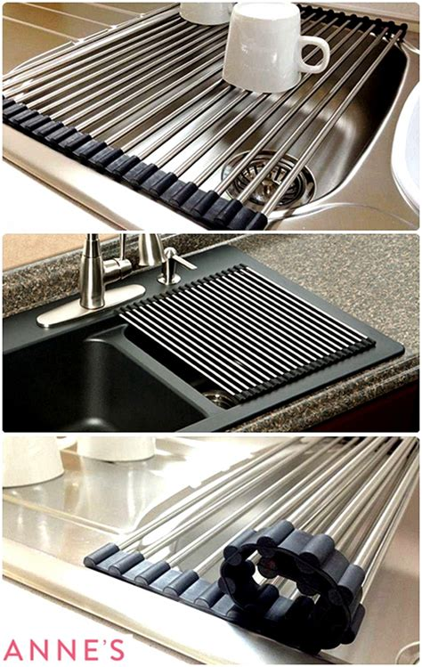 stainless steel sink protector mats stainless steel kitchen sink drainer roll heat mat folding