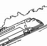 Coloring Train Uphill Railroad sketch template