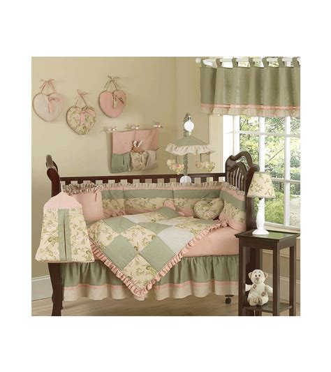 Optional choice crib bedding for girls. Sweet JoJo Designs Annabel 9 Piece Crib Bedding Set