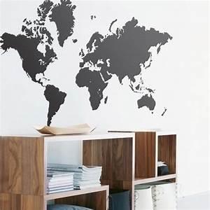 Carte Du Monde Deco Murale : sticker planisph re d co stickers muraux ~ Dailycaller-alerts.com Idées de Décoration