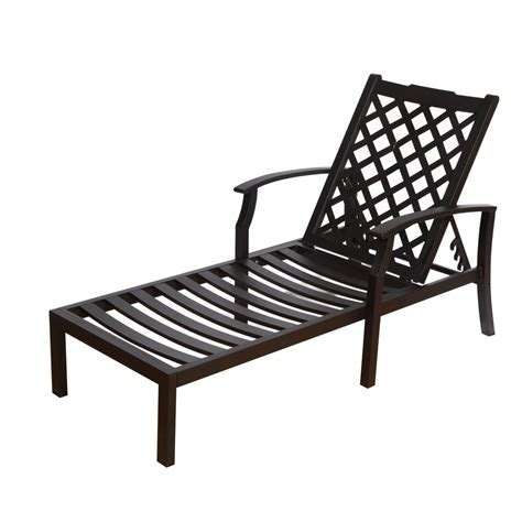 shop allen roth carrinbridge black aluminum patio chaise