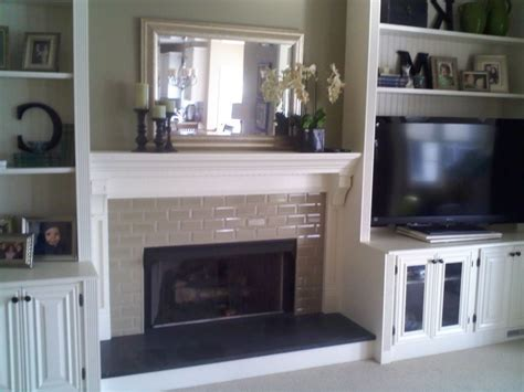 Diy Shelves Around Fireplace