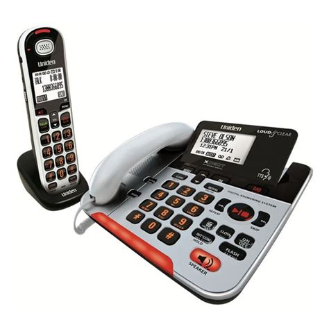 phones for hearing impaired walmart uniden visual hearing impaired phone sse37 1 buy