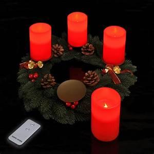 Led Kerzen Mit Fernbedienung 4er Set : led echtwachs adventskerzen 4er set mit fernbedienung und halterungen kerzen ebay ~ Orissabook.com Haus und Dekorationen