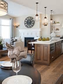 kitchen and floor decor open concept living dining design the light fixtures and floor but id want kitchen