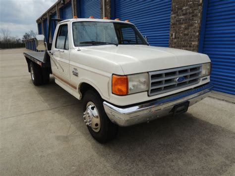 ford  dually flat bed  original miles