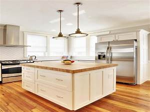 Bamboo Kitchen Island Butcher Block Countertop In A White