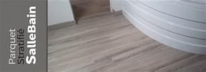 escalier parquet moquette plancher revetement de sol With parquet flottant salle de bain