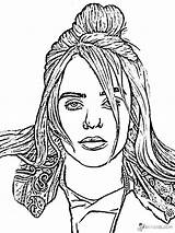 Billie Eilish Coloring Pages Singer Printable Talented Popular sketch template
