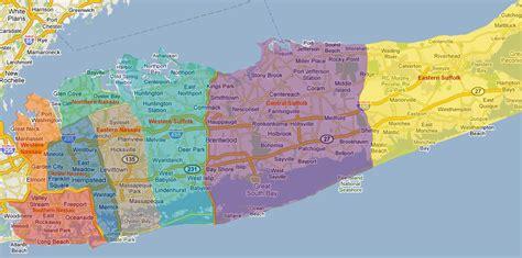 Printer For Island Manhattan Nassau Suffolk Nassau And Suffolk County Map Nassau County Suffolk
