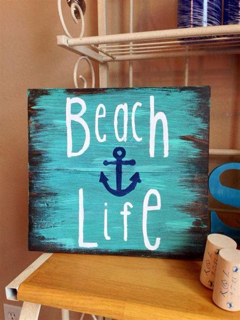 beach life wooden sign nautical sign beach sign beach