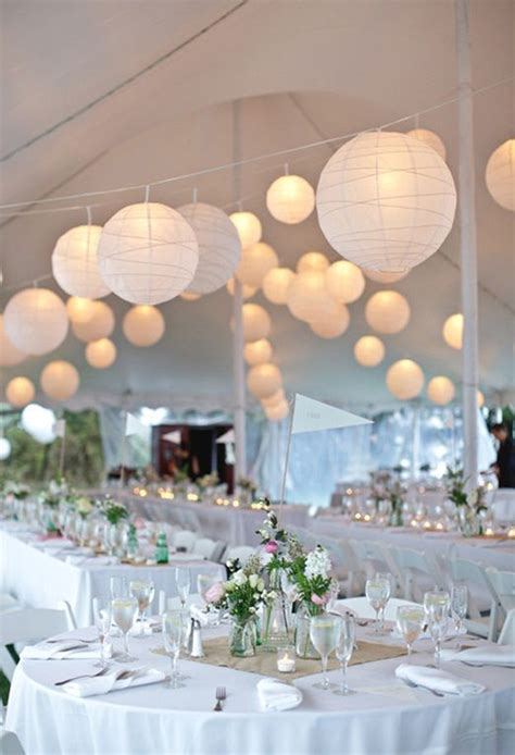 white paper lanterns  wedding decor homemydesign