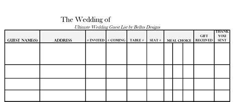 downloadable wedding guest rsvp list  images