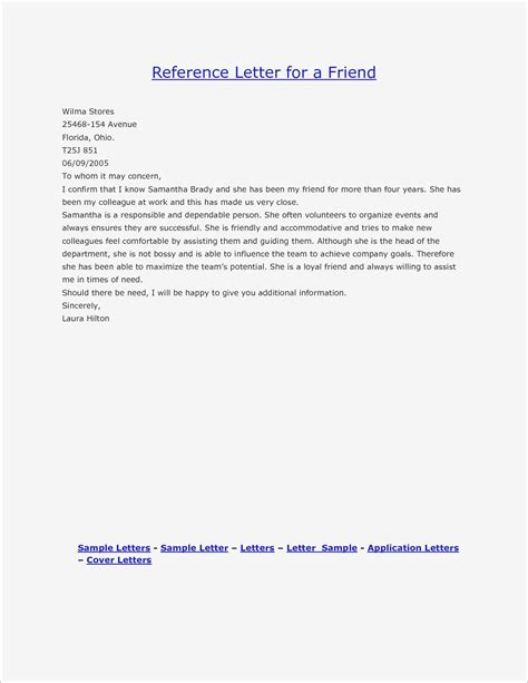 Character Reference Letter Template Character Reference Letter Template Exles Letter