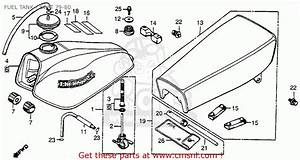Honda Xr80 1979  Z  Usa Fuel Tank    Seat 79-80