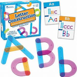letter construction activity set With learning resources letter construction