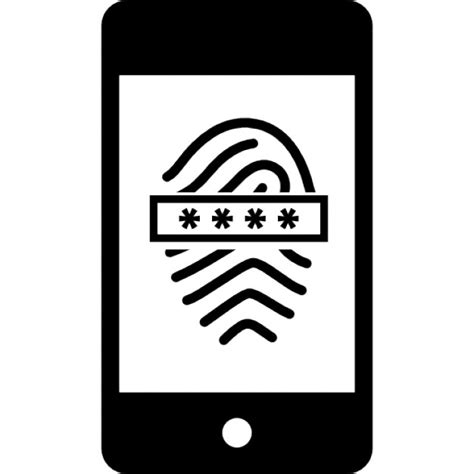 free scanner cell phone fingerprint scanner with password on mobile phone icons