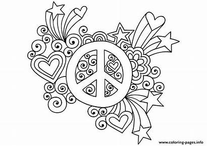 Peace Coloring Sign Pages Simple Attractive Printable