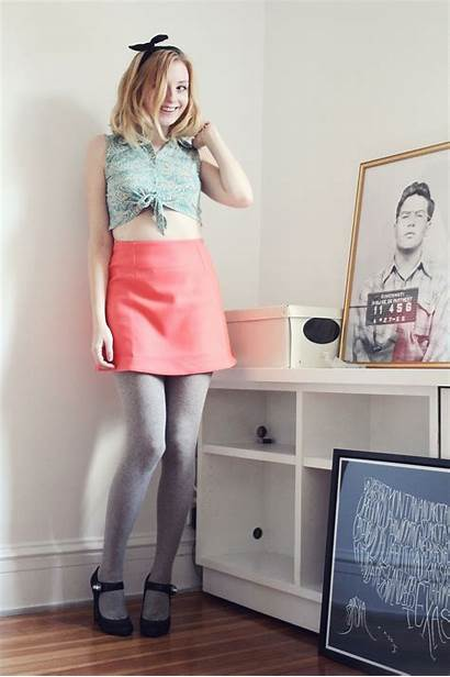 Pantyhose Dress Cute Staticflickr Grey Tights Little