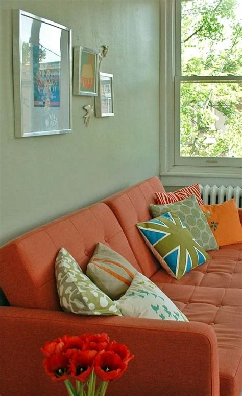 canape orange canapé orange un meuble original pour le salon