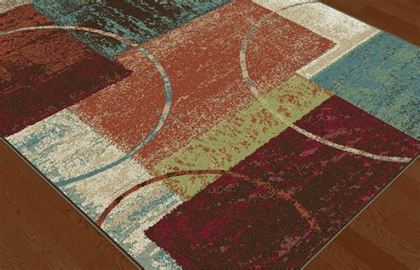 multi color squares contemporary blocks area rug modern