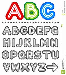 Line letters alphabet set royalty free stock photos for Set of alphabet letters