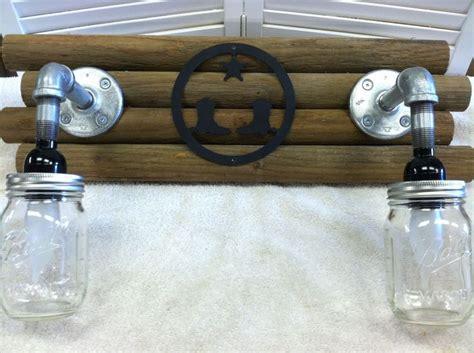 Rustic Country Light Fixture Western Bathroom Handmade