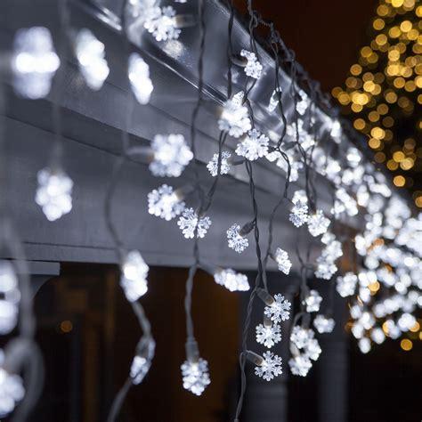 cool white led icicle string lights led christmas lights 70 cool white snowflake led icicle