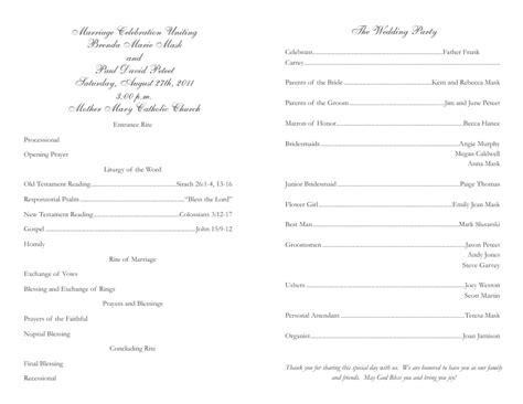 catholic wedding program saynolegalcrime