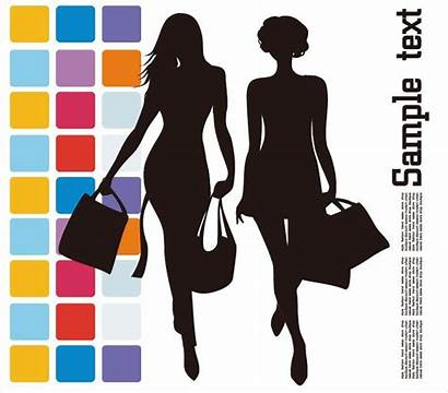 Shopping Vector Clipart Silhouette Illustration Clip Graphics